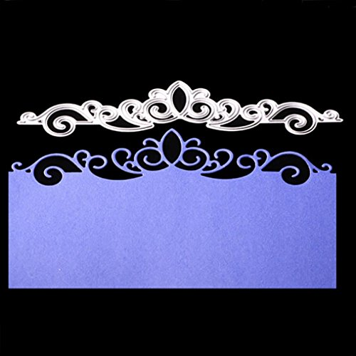 Crown Lace Metal Cutting Dies Embossing Die Cuts Scrapbooking Dies Metal Cut For Card Album Decoration Flower Crown For Card New Year Present DIY Wedding Valentine's Greeting -