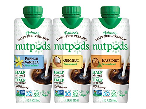 nutpods Dairy Free Coffee Creamer Unsweetened (Variety 3-pack) - Whole30 Approved