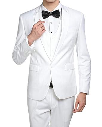 VITryst - Chaqueta de Traje - para Hombre Blanco Blanco US ...