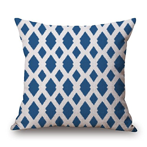 16 X 16 Inches / 40 By 40 Cm Geometric Pillow Shams,each Side Is Fit For Couples,gf,car,drawing Room,living - Each Plaid Sham