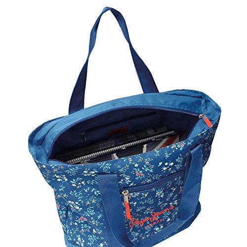 Pepe Jeans 6036651 Schultertasche Umhängetasche, Blau