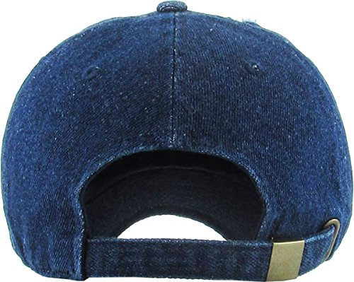 f43752fba ... KBETHOS Vintage Washed Distressed Cotton Dad Hat Baseball Cap  Adjustable Polo Trucker Unisex Style Headwear ...