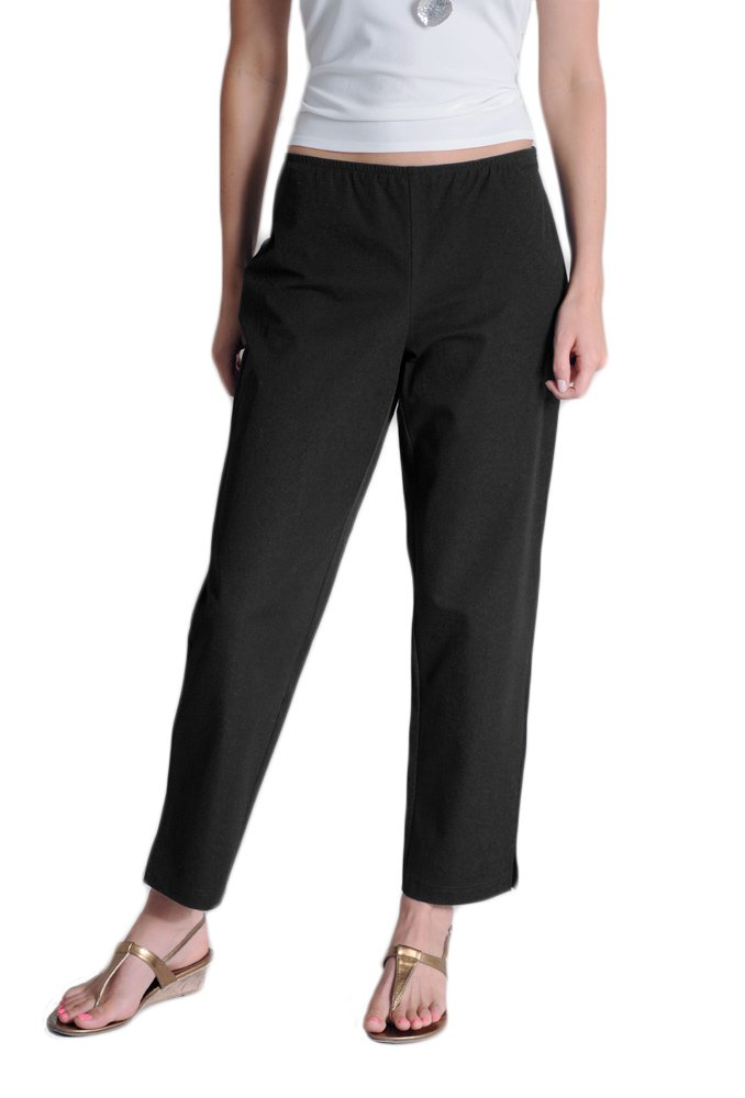 Eileen Fisher Organic Cotton Stretch Twill Slim Ankle Pant (xl, black)