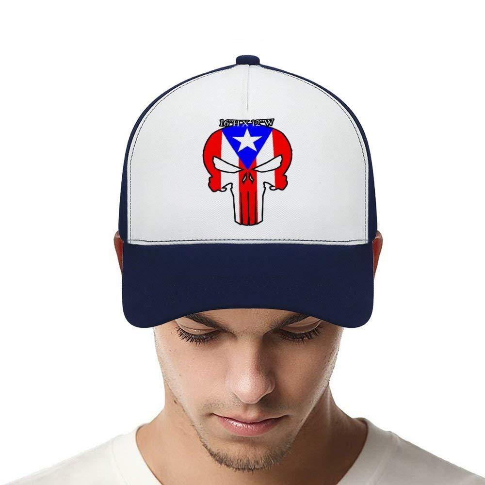 Puerto Rico Distressed FlagTop Level Baseball Caps Men Women Classic Adjustable Plain Hats Dad Hats