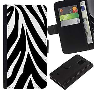 JackGot ( Astratto modello della zebra ) Samsung Galaxy S5 Mini (Not S5), SM-G800 la tarjeta de Crédito Slots PU Funda de cuero Monedero caso cubierta de piel