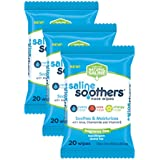 Wet Wipes for Face, Nose, Hands and Eyes, Unscented Pack of 3 by Saline Soothers, Moisturizing Tissue, Boogie Wipe, Allergy Relief, 60 Wet Wipes