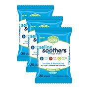 Saline Soothers Moisturizing Tissue for Face, Nose, and Hand, Boogie Wipe, Unscented, 60 Wet Wipes (Pack of 3)