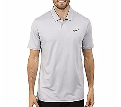 09e60587 Nike Tiger Woods TW VL Max Hypercool Polo Gym Wolf Gray Small Golf Shirt