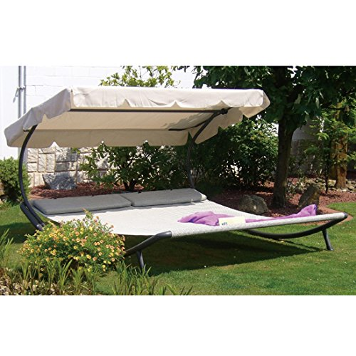 Abba patio outdoor portable double chaise lounge hammock - Outdoor mobel lounge ...