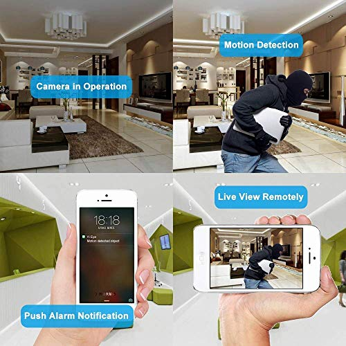 Spy Camera Wireless Hidden - Hidden Camera WiFi Photo Frame - Nanny Cams with Cell Phone APP - 720HD Night Vision & Motion Detection 365 Days Battery Powered Standby Instant Alerts for Indoor Security by NIGHT WELL (Image #5)
