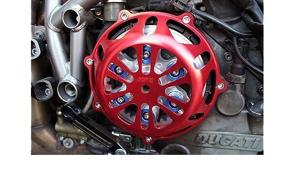 Ducati rojo Motor Tapa del embrague Hypermotard deporte 1000 S: Amazon.es: Coche y moto