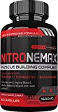 NitroneMax NO2 Nitric Oxide Booster - Superhuman Muscle Building All Natural Nitric Oxide Supplement w/L Arginine AKG & L Citrulline - Boost Energy, Strength, Pumps, Muscle Building - 60 Count