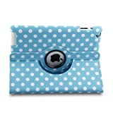 stylus for sewing machine - ELEOPTION Auto Sleep/Wake Function 360 Degree Rotating Smart Case Cover for 7.9 inch Apple iPad Mini/iPad Mini 2 Mini 3 with Retina with a Stylus as a Gift (Polka Dot Blue)