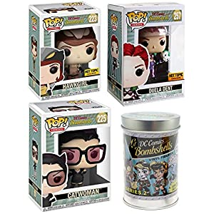 51e4u2%2BAhUL. SS300 Lil' Powerhouse Pinup Heroes DC Super Pop Girls Figures Exclusive Bundle + Comic Character Catwoman + Blind Can…