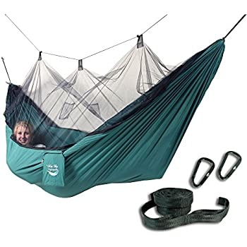 blue sky outdoor mosquito traveler hammock with free tree straps green amazon    lawson hammock blue ridge camping hammock and tent      rh   amazon