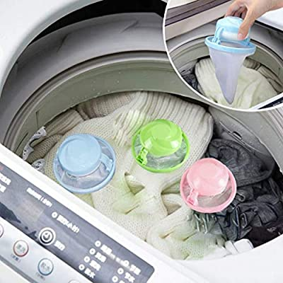 Iuhan Washing Machine Lint Filter Bag, House Household Washing Machine Lint Filter Bag Laundry Mesh Hair Catcher Reusable Floating Ball Pouch