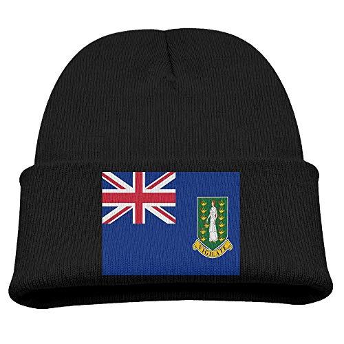 Dr-Drin Flag of The British Virgin Islands Kid's Hats Winter Funny Soft Knit Beanie Cap Children Unisex