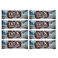 Cocoa Chaos - Trek Protein Energy Bar 55g - No Added Sugar, Gluten & Wheat Free Snack (Pack of 8)
