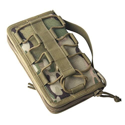 - AWDTN Mens Camouflage Canvas Tri-Fold Wallet,Abundant Card Slot and Elastic Band Compartment,3D Stereo Pocket,Unisex,D