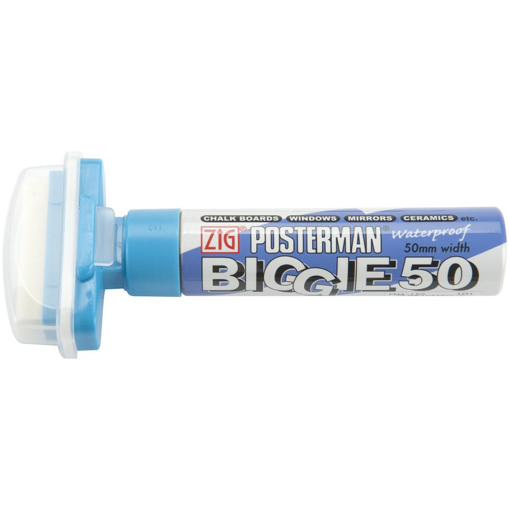 Zig Posterman Biggie 50mm Tip MarkerLight bluee
