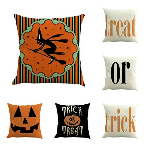 YOcheerful Halloween 10PC Home Car Bed Sofa Decorative Pillow Case Cushion Cover (D,45 45cm)
