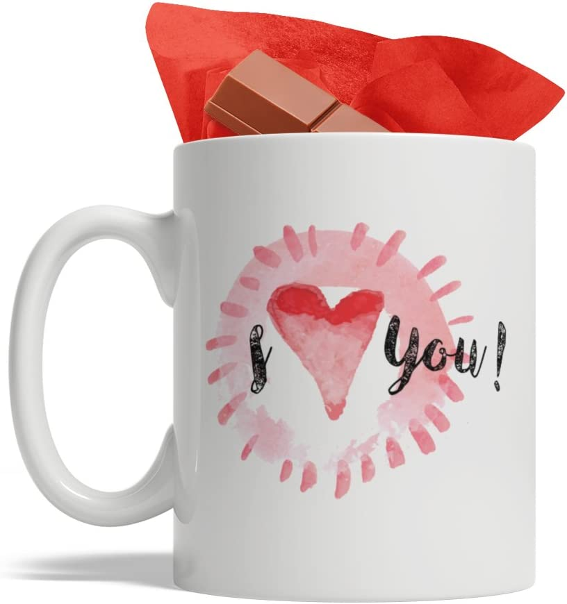 Amazon Com I Love You Coffee Mug Cute Valentines Day Gift Novelty Heart Cup Ideas For Husband Wife Valentines Day Mug Kitchen Dining