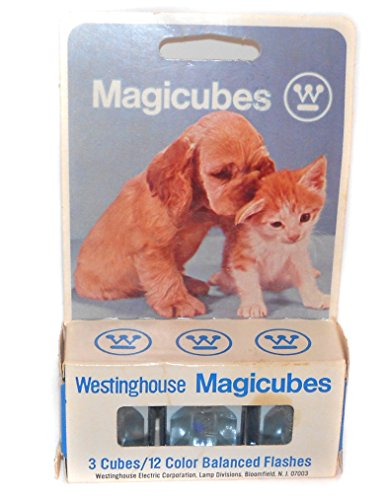 Pack of Three Westinghouse Magicubes Flash Cubes Camera Flashbulbs NOS