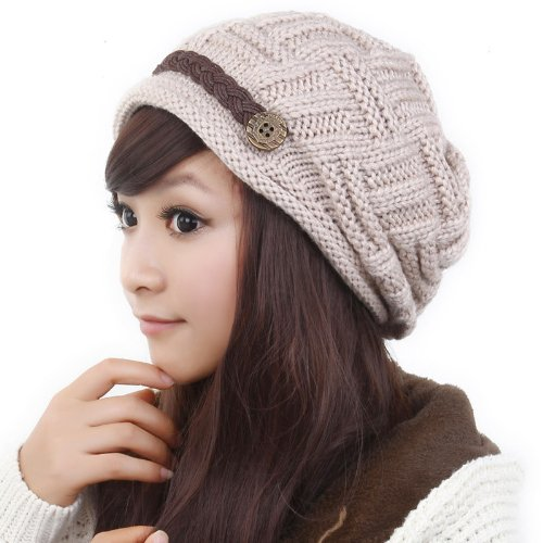 YCHY Slouch Women hat Winter Baggy Snowboarding Knit Snow Warm Hat Beanie Crochet Cap - Baggy Pants Baseball