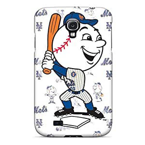 EricHowe Samsung Galaxy S4 Protective Cell-phone Hard Covers Support Personal Customs Lifelike New York Mets Series [phr16756DwAr]