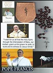 Saint John Paul II Relic Rosary Blessed by Pope Francis at 1st Mass Given by Him at Vatican\'s Sistine Chapel also Includes Photographs of Mass & of the Conclave the Day Before 21\