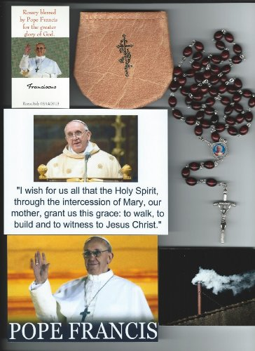 Saint John Paul II Relic Rosary Blessed by Pope Francis at 1st Mass Given by Him at Vatican's Sistine Chapel also Includes Photographs of Mass & of the Conclave the ()