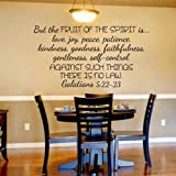Scripture Wall Decal Christian Wall Decal But The Fruits of the Spirit... - Galatians 5:22-23 (Dark brown,l)