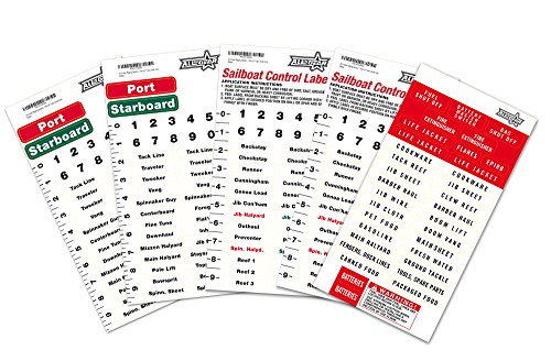 All In Gear Sailboat Rigging Labels Vinyl Waterproof Weather Resistant Sail Boat Stickers Control  Port and Starboard Marine Safety 2 Pack Plus Safety Labels (Port Label)