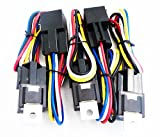 Genssi 30/40 AMP Relay and Wire Harness Spdt 12V 40A (Pack of 5)