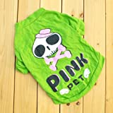 HuntGold Skeleton StylePet Puppy Dog Doggie Coat Apparel Clothes Hoodies T-Shirt Sweater(Size: XS)