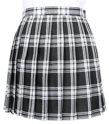NAWONGSKY Women's Plaid Pleated Skirt