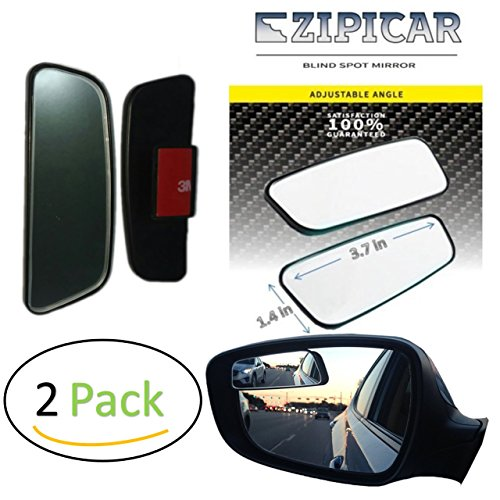 Blind Spot Mirrors - Car Door Mirror for Blind Side - Change lanes and merge highways safely - best rear view [adjustable & stick-on] (2 pack, left and (Change Side View Mirror)