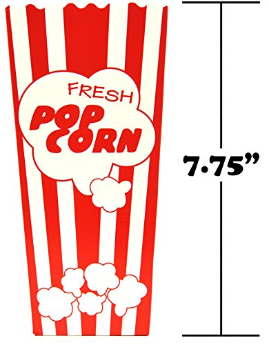 30 Popcorn Boxes, 7.75'' Inches Tall and Holds 46 Oz. with Old Fashion Vintage Retro Design with Red and White Colored, Nostalgic Carnival Stripes by Original Salbree by Salbree (Image #2)