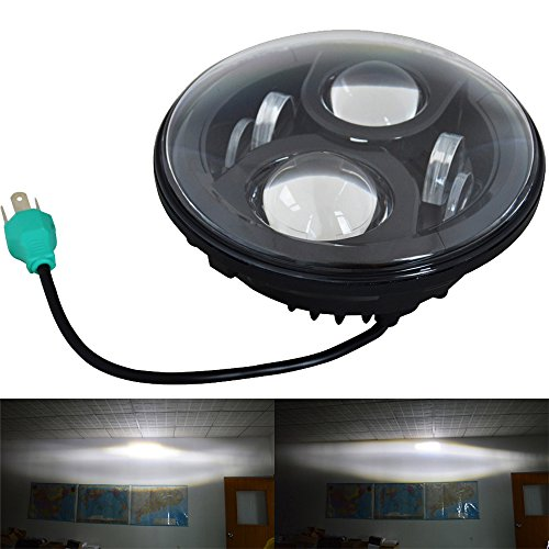 Touring Road King (UNI 7 Inch Round LED Headlight Projector Daymaker Lamp for Harley Davidson Touring Electra Glide Road King Street Glide Ultra Limited Trike Softail Deluxe Fat Boy Heritage Yamaha V-Star Road)