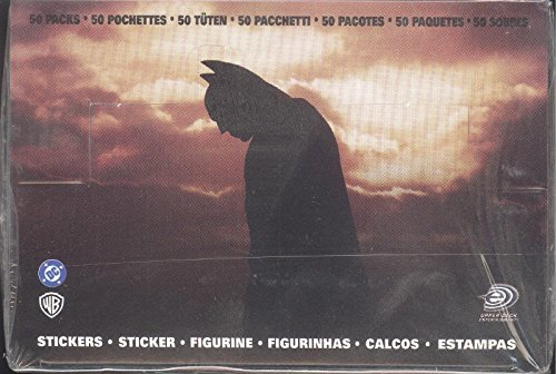 BATMAN BEGINS MOVIE 2005 UPPER DECK FACTORY SEALED ALBUM STICKERS BOX 50 PACKS
