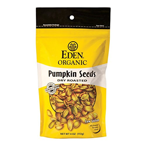 - Eden Organic Pumpkin Seeds, Dry Roasted, 4-Ounce Resealable Bags (Pack of 15)