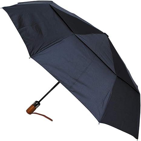 noir parapluie automatique avec poign/ée aspect bois