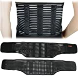 Ultra Back Support, DRUnKQUEEn Stabilizing Lumbar Lower Back Brace and Support Belt with Dual Adjustable Straps and Breathable Mesh Panels, Lightweight