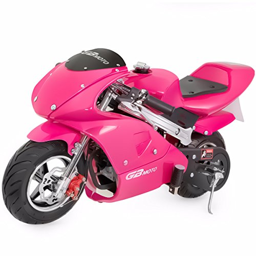 V-Fire 4-Stroke 40CC Kids Gas Pocket Bike (EPA Registered), Pink (Mini Kids Chopper)