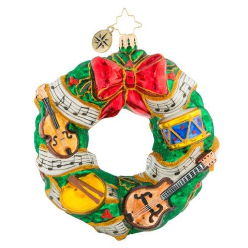 (Christopher Radko Rhythmic Christmas Wreath Christmas Ornament)