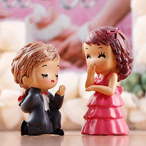 - ZAMTAC Bride and Bridegroom Weeding Mini Figurines Terrarium Miniatures Mini Garden Decoration DIY Valentine's Day Present Material