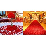 1000 pieces artificial silk flower petals - Champagne Red