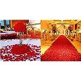 1000 piece Wine Red Silk Rose Petals Artificial Flower Wedding Decor
