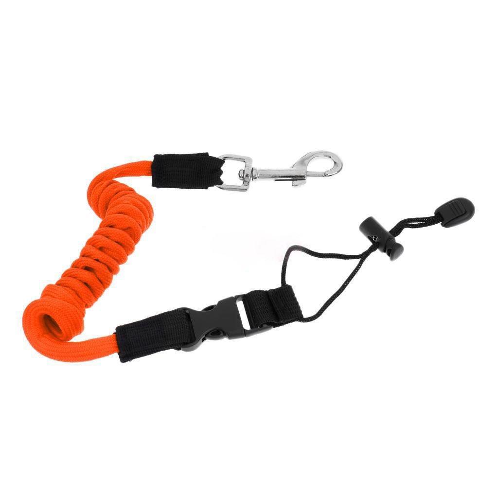 Cuerda Flexible de la Barra de Seguridad del kajak con el Gancho Bote de caña de Pescar del Barco Cuerda en Espiral del Lazo del cordón del cordón oobest
