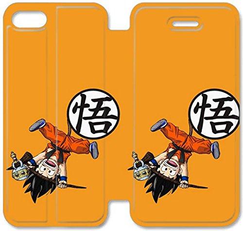 Flip étui en cuir PU Stand pour Coque iPhone 5 5S, bricolage 5 5S étui de téléphone cellulaire en cuir Coque Case Dragon Ball Wallpaper X J3D5JE personnalisé pas cher Coque iPhone